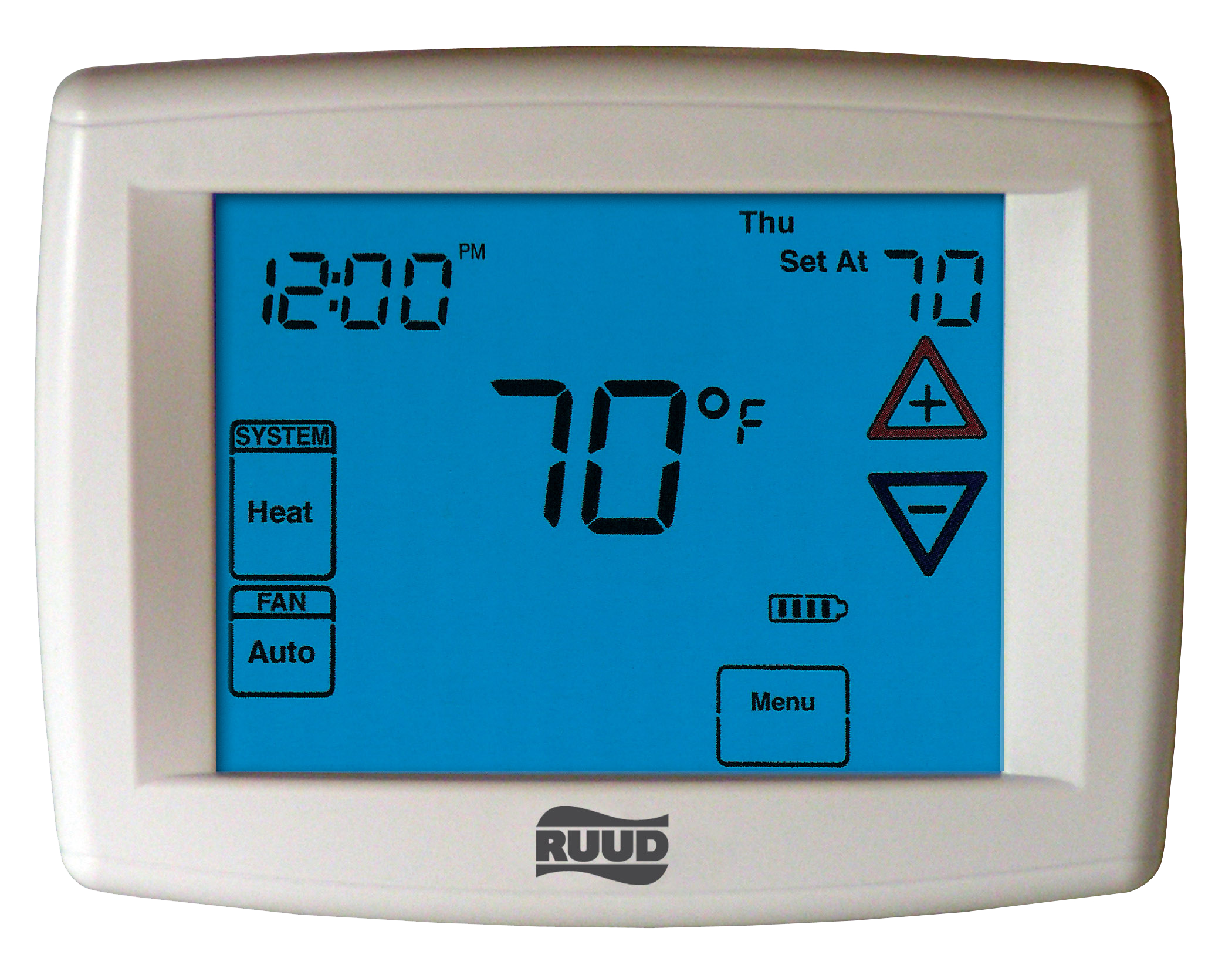 300 Series Deluxe Programmable Thermostats Ruud And Digital Thermostat Wiring Diagram Web Product Image