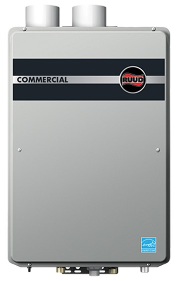 commercial condensing tankless - indoor | ruud commercial tankless