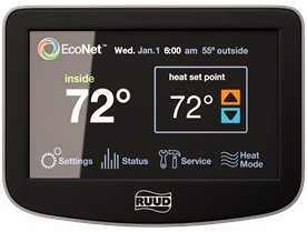 Econet Control Center Ruud Thermostats And Controls